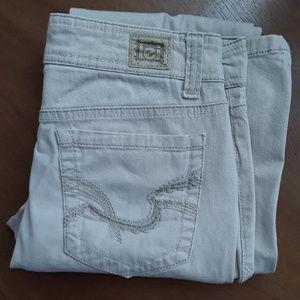 L.E.I. Sophia hipster flare jeans khaki